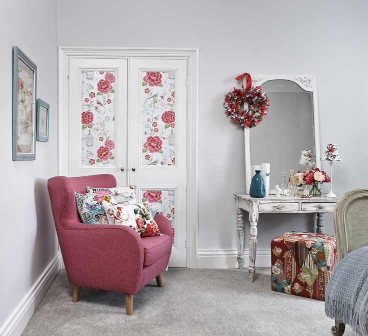 Go for painted walls and use patterned