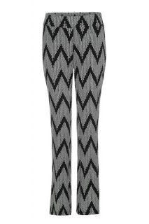 Black and white chevron knit pant #pants #printedpants #prints #style #summer #fashion #tribalsportswear #summerstyle #trends
