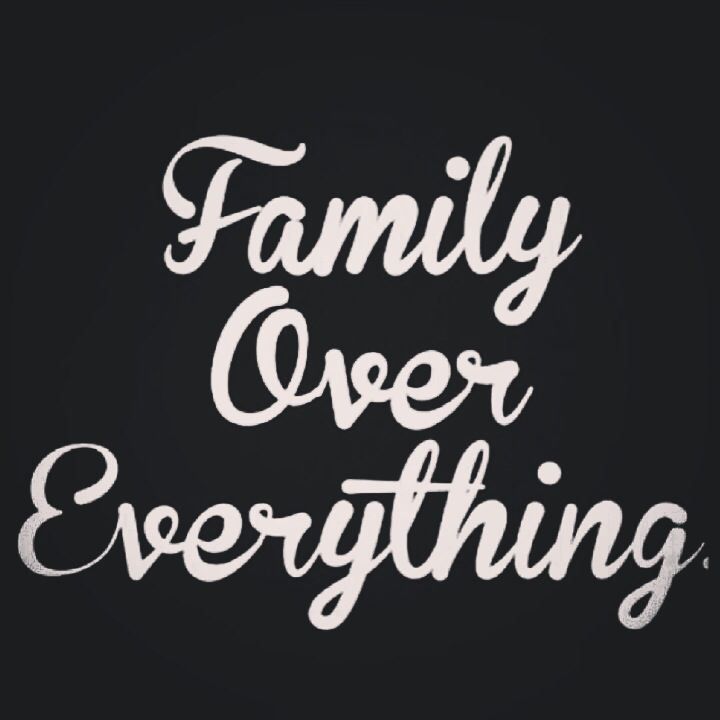 Family doesn't mean the toxic group of people that gave you life. Family are the ones you can count on, and the ones you made vows to...whomever they are.