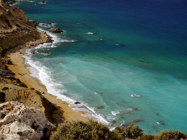 Nature in Matala, Greece (red beach)