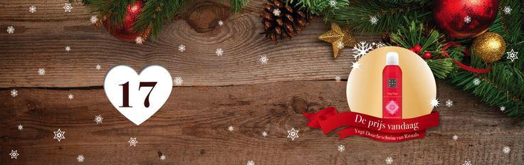 🎄🎁✨ Tel af naar #Kerst met de adventskalender vol #prijzen van SpaDreams!     Het zeventiende vakje van onze Wellness - #Adventskalenderactie bevat het volgende cadeautje: ontspannend doucheschuim '' Yogi Flow van Rituals '' 👌  Combineert de eeuwenoude Ayurvedische ingredienten verzachtende Zoete Amandelolie & Indiase Roos.     Wil jij deze fantastische prijs winnen? Het enige wat je hoeft te doen is SpaDreams kerstkoekjes zoeken! 🍪 🎄  Bekijk vandaag de pagina…