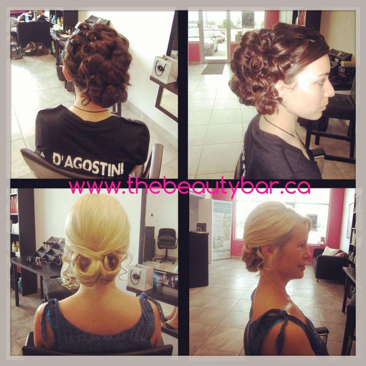 Bridal hair, curls, Updo