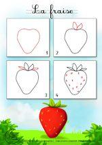 Dessin2_Comment dessiner une fraise ?