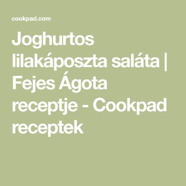 Joghurtos lilakáposzta saláta | Fejes Ágota receptje - Cookpad receptek