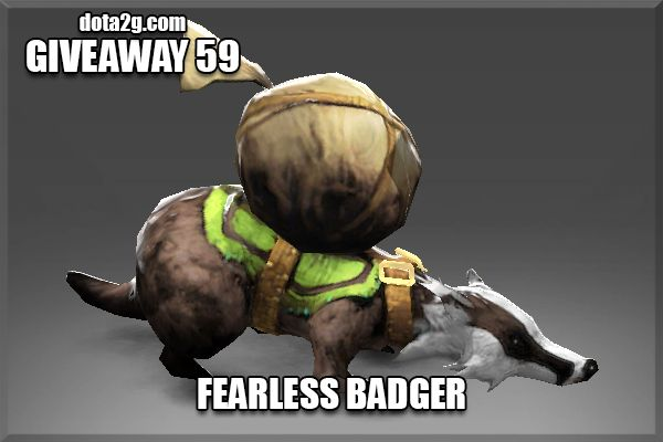 Giveaway 59 - Fearless Badger