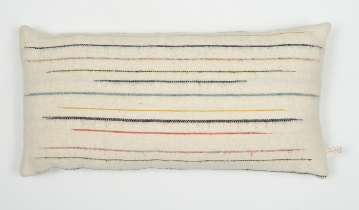 Woven cushion, 100% wool by Laura Fletcher Textiles