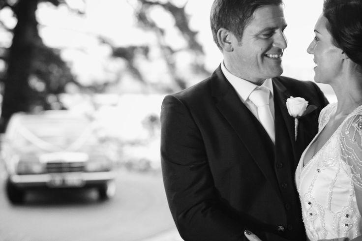 Intimate look between bride & Bridegroom