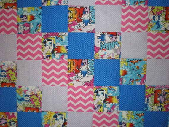 My Little Pony Patchwork  Quilt by GoughGoodies on Etsy