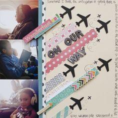 Viajantes! Gosto do toque dos aviões e das fitas coloridas :)