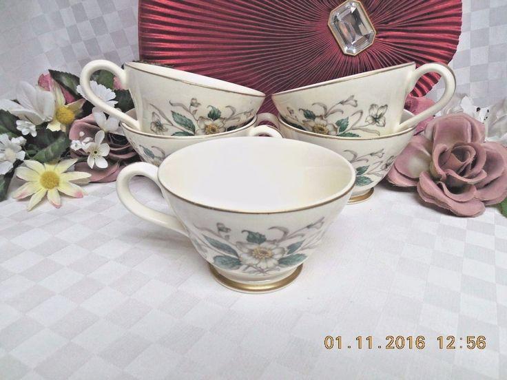 Carolina By Knowles, Edwin, China Dinnerware Pattern #R2110 set 5 cup
