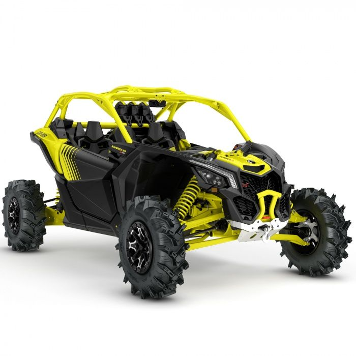Extreme Mudder Conquer Abysmal Terrain With Can Am S Latest Mud Specific Maverick X3 X Mr Turbo Built Primarily With Fun In Mind Can Am Atv Quads Dune Buggy