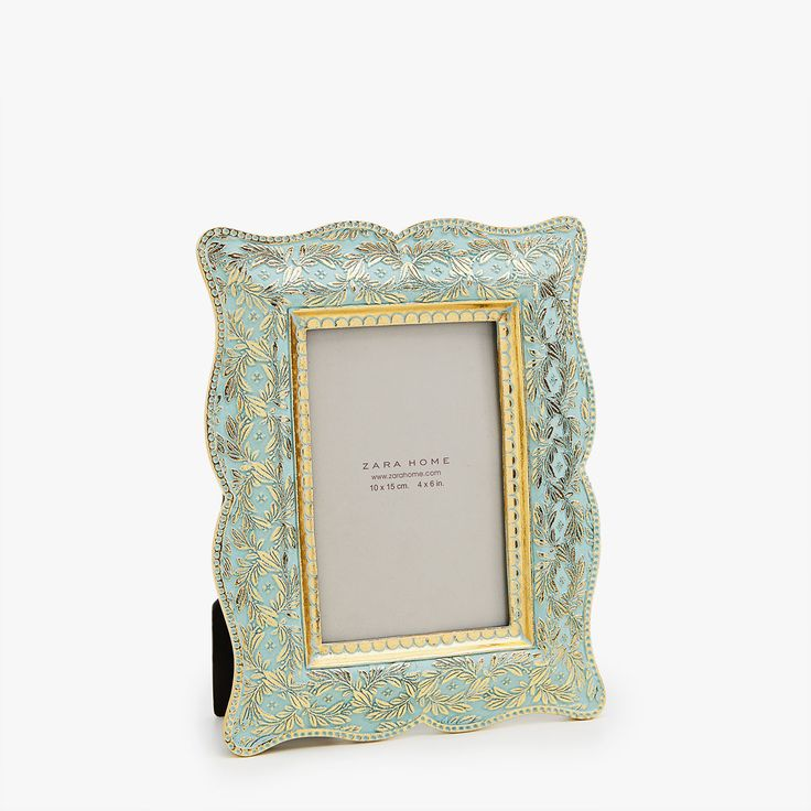Image 1 of the product Rectangular emerald and gold frame