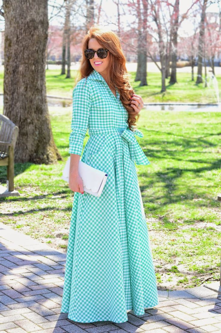 This gingham maxi dress is gorgeous.