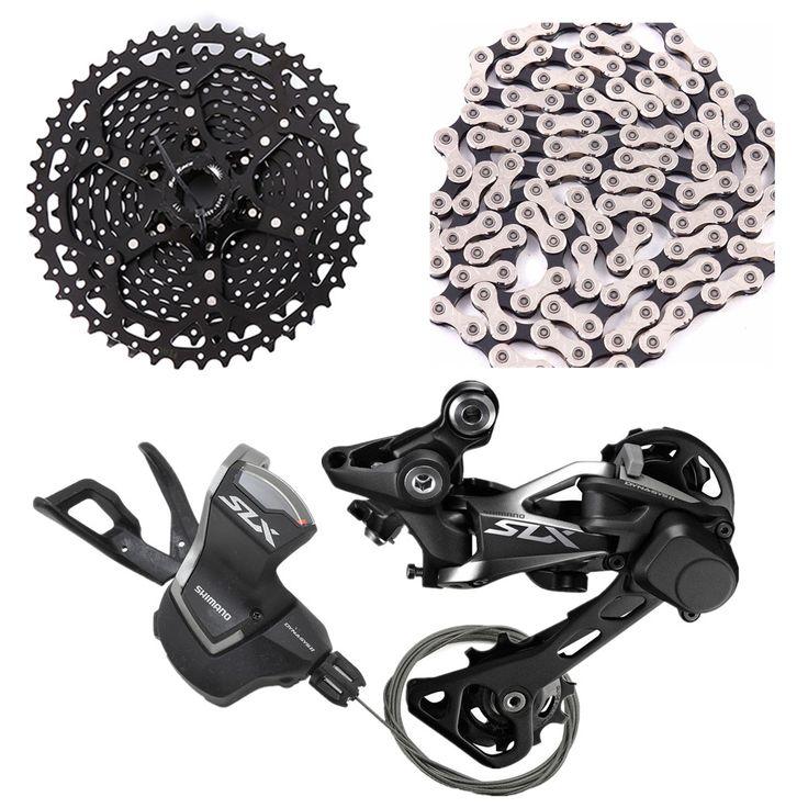 M7000 bicicleta mtb shimano slx 11 velocidade shifter Desviador traseiro com sunrace cassete csms8 x11.93 cadeia