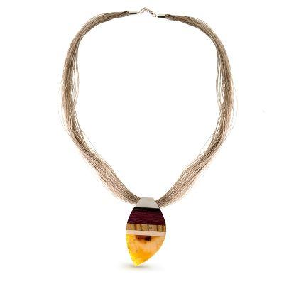 Amberwood necklace for W.KRU