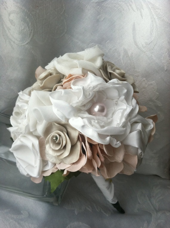 handmade wedding bouquets. etsy  old and new inspiration