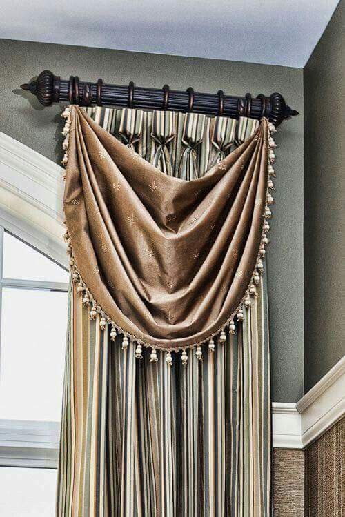 130 best window treatments images on pinterest curtain Short curtain rods