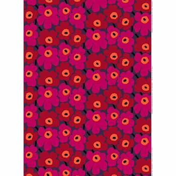 Everything seems cuter when its smaller, even this iconic pattern by Maija Isola. Marimekko Pieni Unikko Red/Violet Fabric - $53