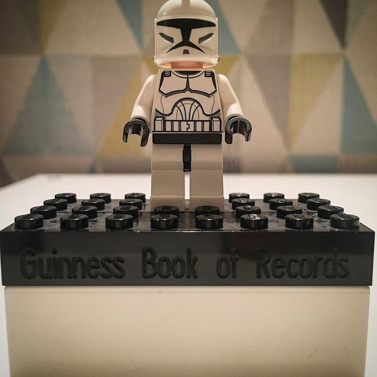 Official brick(s) given to staff for Guinness record on June 27th 2008 for 35210 clone troopers assembled in a huge army! #lego #starwars #legostarwars #clonetrooper #guinnessworldrecord #afol #afolclub #legostarwarsminifigures