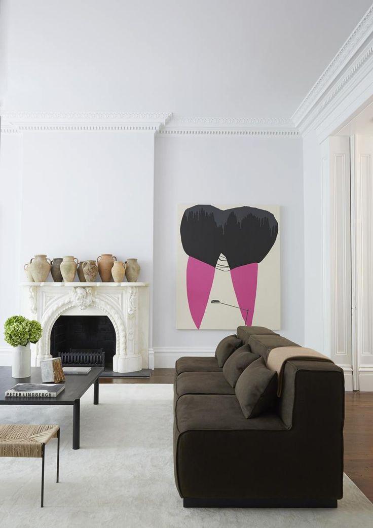 Get The Look A Sleek Art Filled Townhouse Via