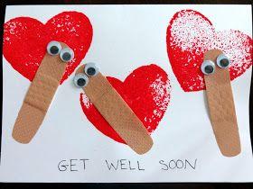 Get well soon cards for after reading Miss Bindergarten Stays Home from Kindergarten.