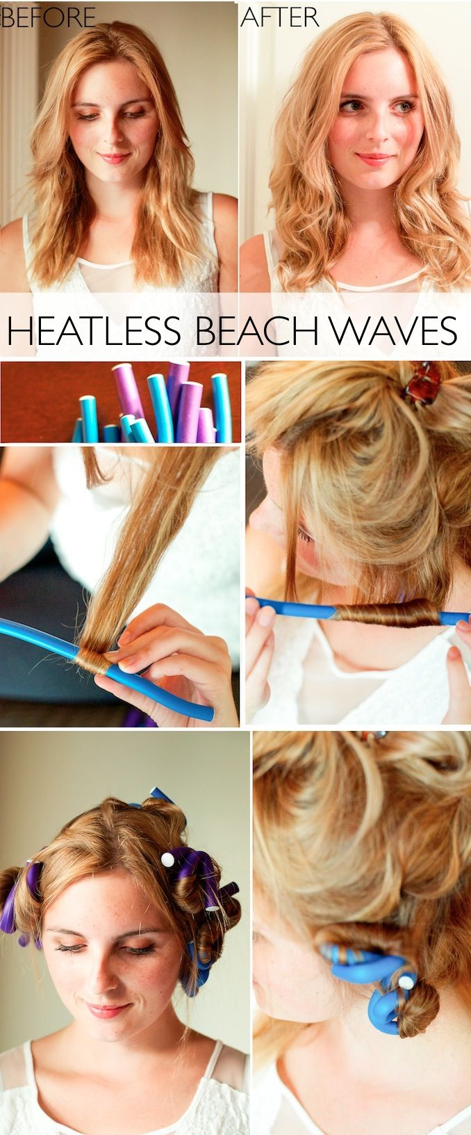 Super Easy Heatless Curls Tutorial!