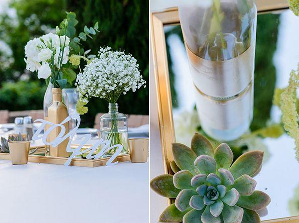 Wedding centerpiece www.sensyle.com #sensyle # sensyleevents στολισμος-γαμου-με-παχυφυτα
