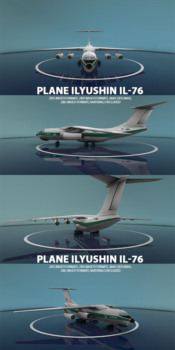 Ilyushin Il-76 Plane by ISMAILBELGHIT Ilyushin Il-76 Plane designed