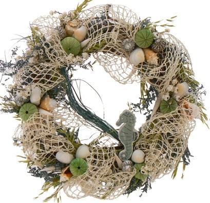 Seahorse Coastal Wreath