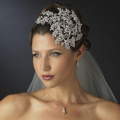 Dramatic Crystal Great Gatsby Style Wedding Headband, style hp19255.