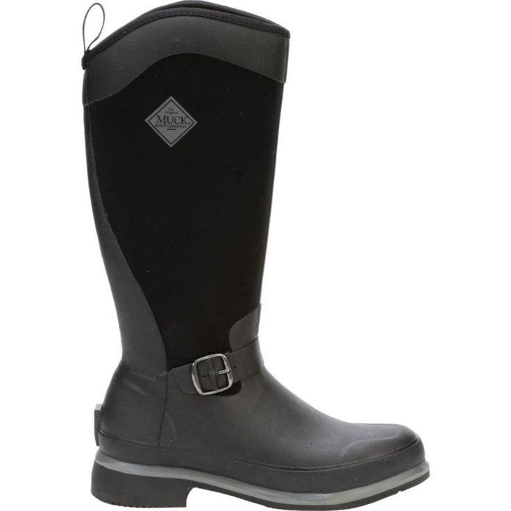 Muck Boot Women's Reign Waterproof Rubber Hunting Boots, Black #MuckBoots