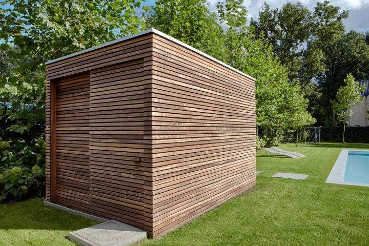 Abri de jardin moderne.
