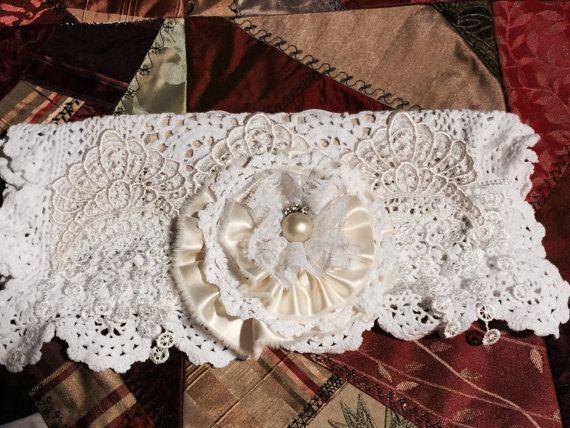 Shabby Chic Clutch, purse, Brides clutch, wedding clutch, Jewelry Keeper, Mixed…