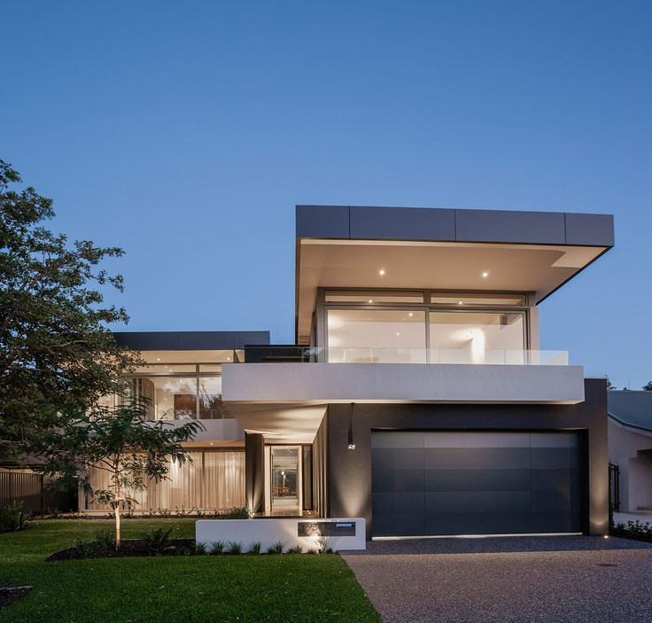 """Award winning luxury modern home """"Paired Pavilion"""" designed and built by Urbane Projects, Perth."""