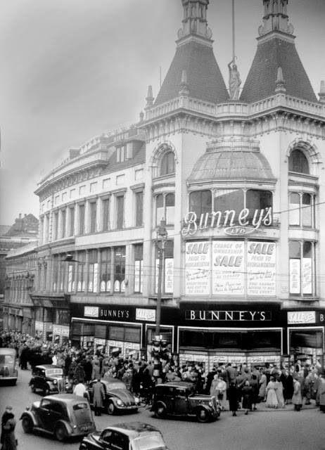Bunny's famous store bottom of Church Street corner of Whitechapel