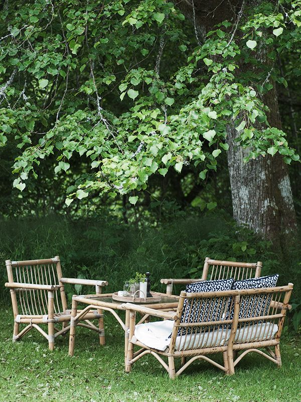 Beautiful vintage cane outdoor furniture