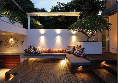 Contemporary Private Deck Design Layout Ideas