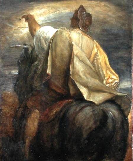 George Frederic Watts (English: 1817-1904) - Horsemen apocalypse rider (1878)