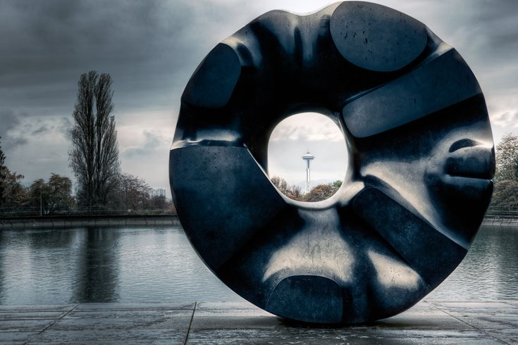 "Black Sun Sculpture by Isamu Noguchi (1969), Seattle Volunteer Park .. may be an inspiration for the Soundgarden song ""Black Hole Sun"" (not sure). We should ask Chris Cornell.."