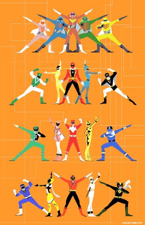 My final Super Sentai tabloid-sized print for AX!