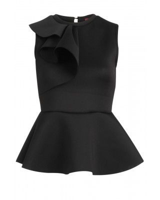 Luv the Limelight - ATMOSPHERIC RUFFFLE PEPLUM TOP, €28.00 (http://www.luvthelimelight.com/atmospheric-rufffle-peplum-top/)