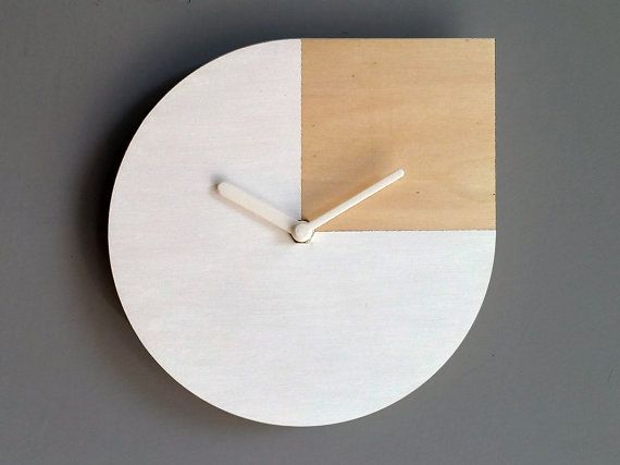 Laser cut wood wall clock Andy Warholsilent wall by LOHNhome