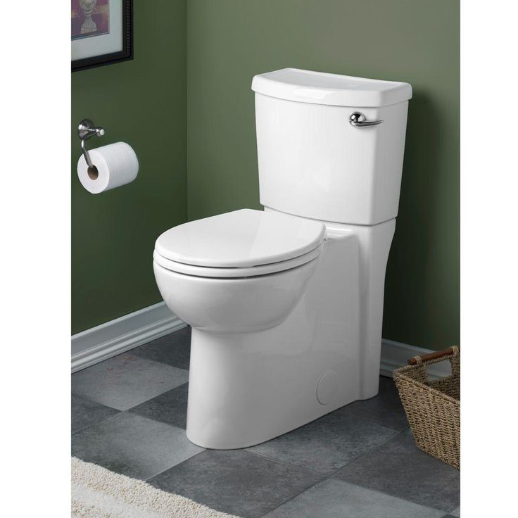 american standard cadet 3 flowise 2piece 128 gpf round toilet with right hand trip lever concealed trapway in white