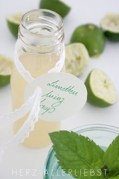 Limetten-Minz-Sirup by herz-allerliebst, via Flickr