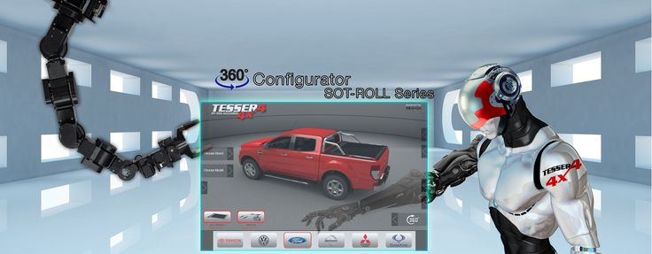 #Configurator 360 #view: #Check and #see #how will be your #pickup #truck #model with our #unique #aluminum #roller #lid #shutters #sotroll #series by #Tessera4x4 #accessories and #combine them with our #rest #premium #accessories with #nolimits. Only at https://www.accessories-4x4.com/Configurator.php?Language=en
