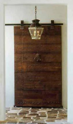 Antique Wood Door on Barndoor Hardware via Chateau Domingue as seen on linenandlavender.net & 72 best Chateau Domingue images on Pinterest | Blog page Chateaus ... Pezcame.Com