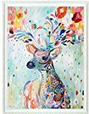 Colorful Deer counted cross stitch, Egyptian cotton thread , 14ct 42x49cm 150x200 Stith counted cross stitch kits