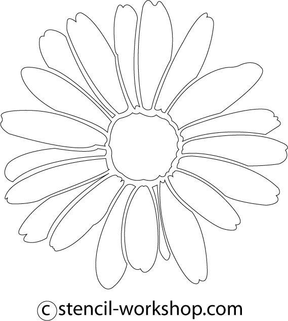 Daisy Stencil - 5