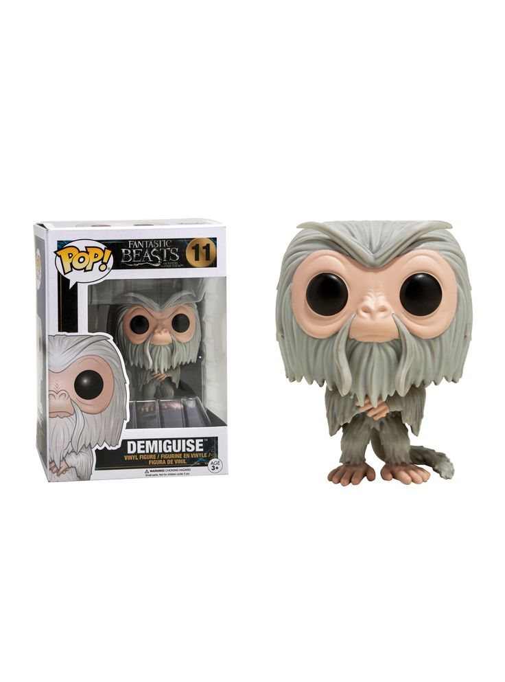 "The Demiguise from <i>Fantastic Beasts And Where To Find Them</i> is given a fun, and funky, stylized look as an adorable collectible Pop! vinyl figure from Funko!<ul><li style=""list-style-position: inside !important; list-style-type: disc !important"">Pop! Fantastic Beasts 11</li><li style=""list-style-position: inside !important; list-style-type: disc !important"">3"" tall</li><li style=""lis..."