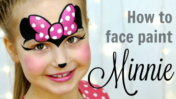 """Minnie Mouse"" Makeup for Kids Fast & Easy Face Painting Tutorial"